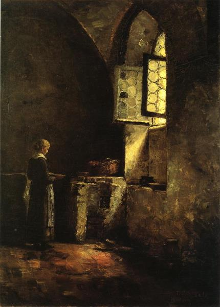 Theodore_Clement_Steele_-_A_Corner_in_the_Old_Kitchen_of_the_Mittenheim_Cloister illustrating a tanka, poetry