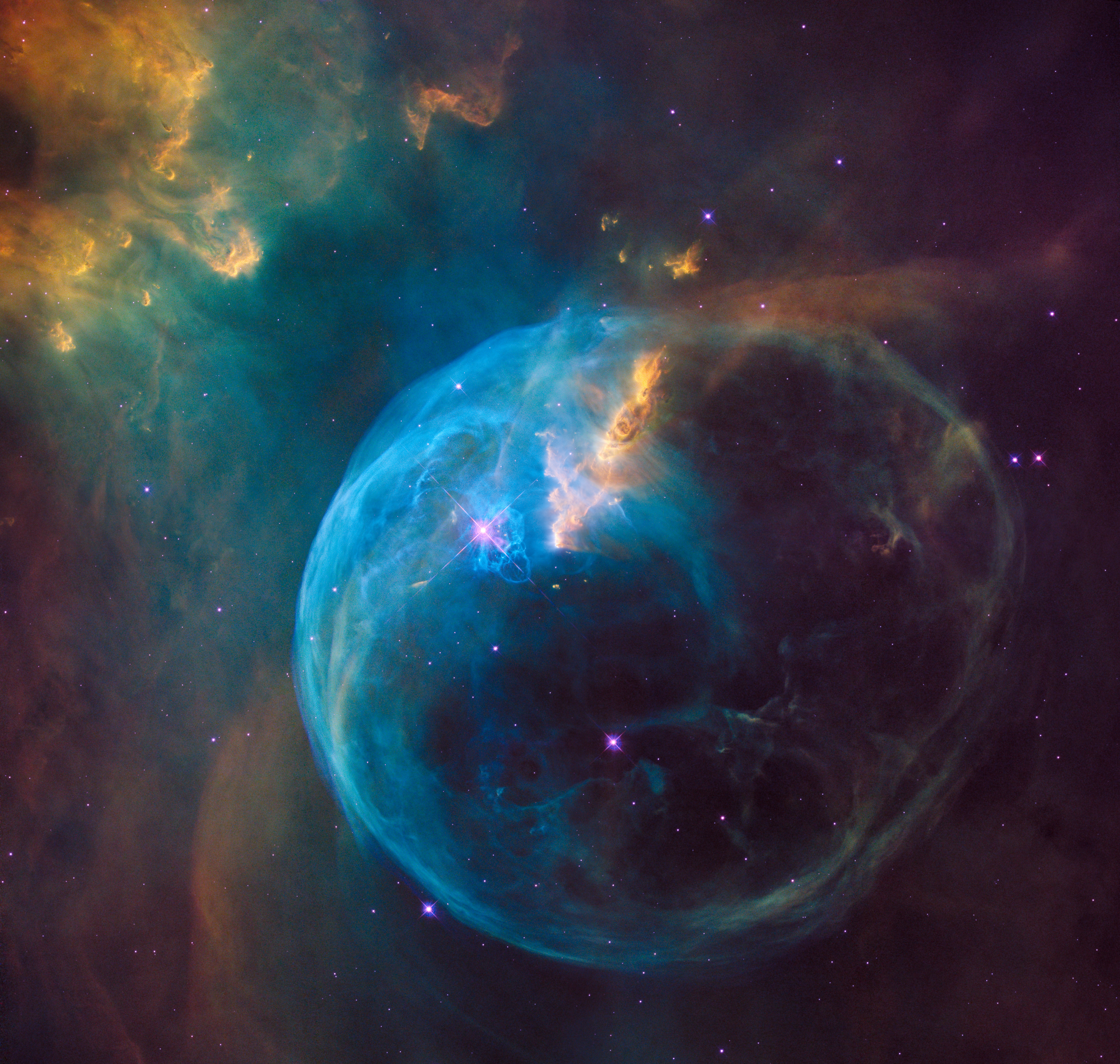 Image of the Bubble Nebula, Three Line Tale prompt for flash fiction