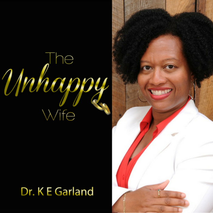 photo of author Katerin E Garland and cover for book The Unhappy Wife, used as image for an inteview with the author