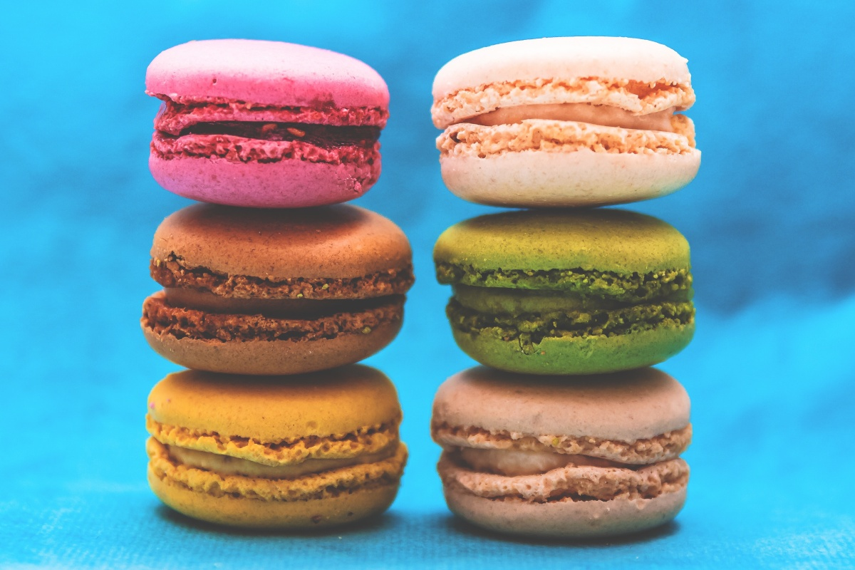 Photo of colourful macarons used for a creative writing prompt microfiction/flash fiction for Sonya's three line tales
