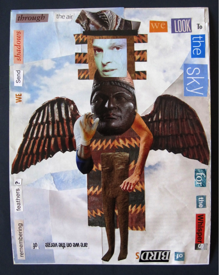 Collage from junk mail and poetic prose by Kerfe Roig