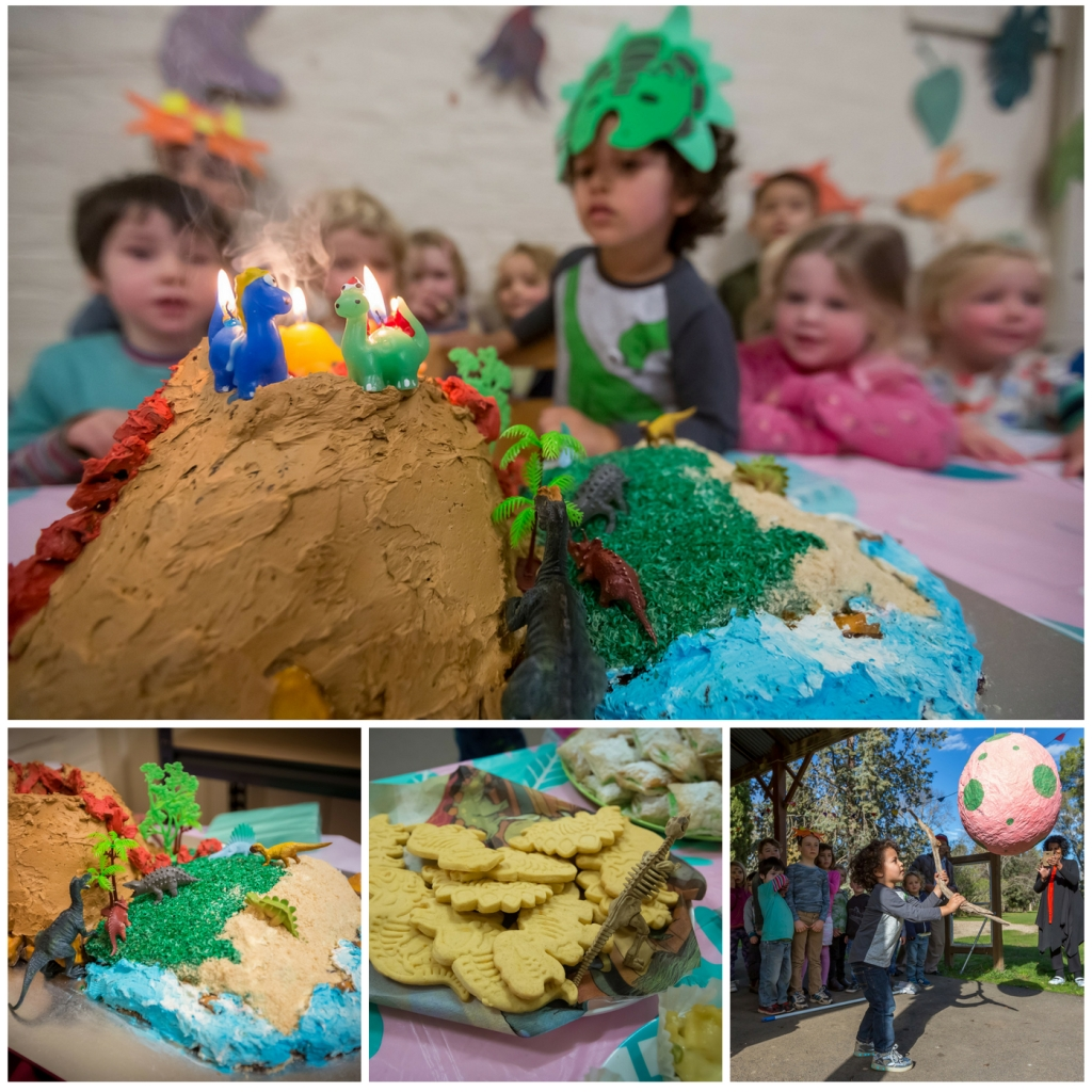 Fourth birthday party fun. Cake, cookies, and pinata with friends.